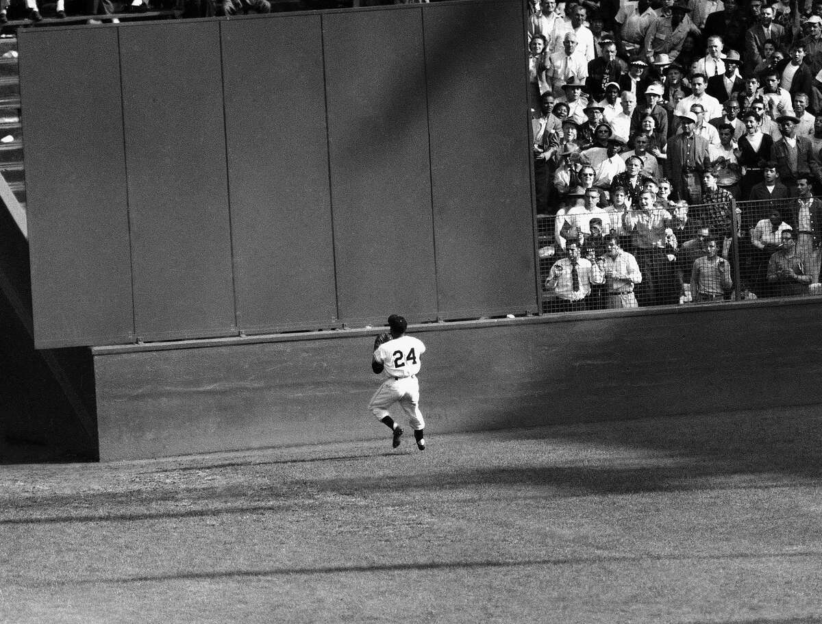 Willie Mays playing for the Giants in New York