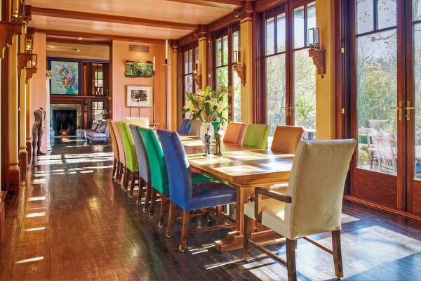 The estate at 323 Florida Hill Road in Ridgefield, Conn. was built in 1992 for designer Alexander Julian. It was designed by the late architect John Marsh Davis.