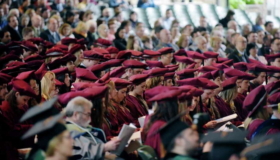 Graduates are seated after entering at the start of the Albany Medical College's commencement ceremony at the Saratoga Performing Arts Center on Thursday, May 25, 2017, in Saratoga Springs, N.Y.   (Paul Buckowski / Times Union) Photo: PAUL BUCKOWSKI / 20040605A