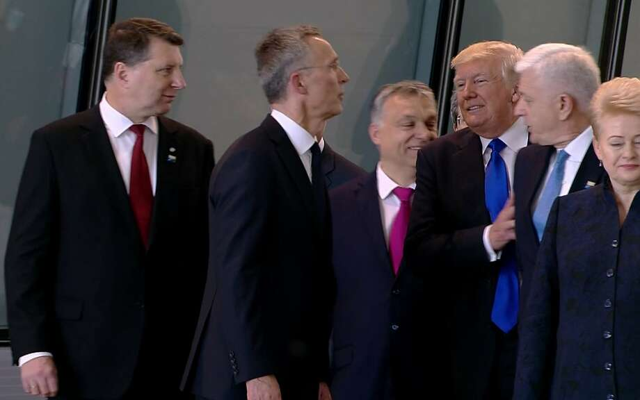 Trump rebukes North Atlantic Treaty Organisation leaders for not paying military bills