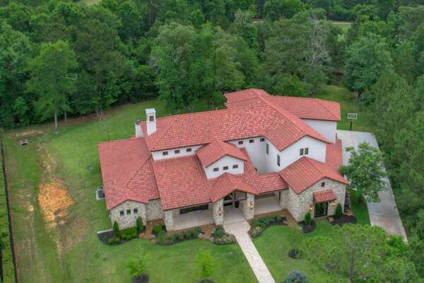 This Italian farmhouse-style Montgomery home will be going to auction.