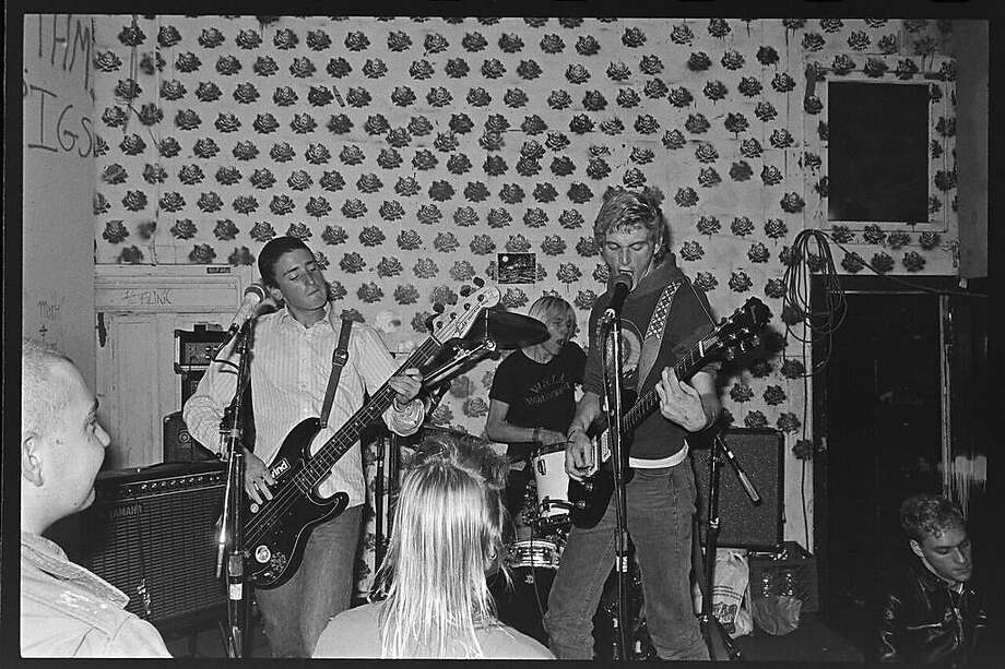 The band Crimpshrine performs at 924 Gilman in Berkeley. Maximum Rocknroll founder Tim Yohannan founded 924 Gilman, an all-ages non-profit venue in 1986. Photo: Murray Bowles