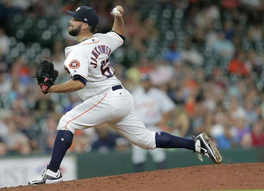 The Astros optioned pitcher Jordan Jankowski to AAA Fresno on Friday night. Photo: Elizabeth Conley, Staff / © 2017 Houston Chronicle