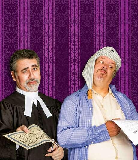 "Robert Solis (left) and Roger D. McCracken in ""Trial by Jury."" Photo: Shutterdivas"