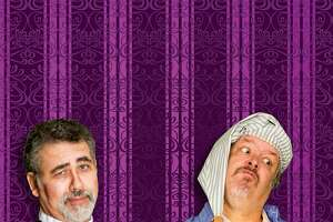 """Robert Solis (l.) and Roger D. McCracken in """"Trial by Jury"""" and """"Gianni Schicchi"""" at Lyric Theatre"""