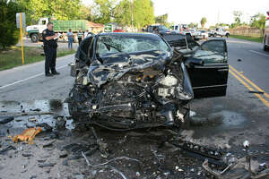 The BMW the impaired Tika Anderson was driving when she caused an April 2015 wreck in northeast Harris County.