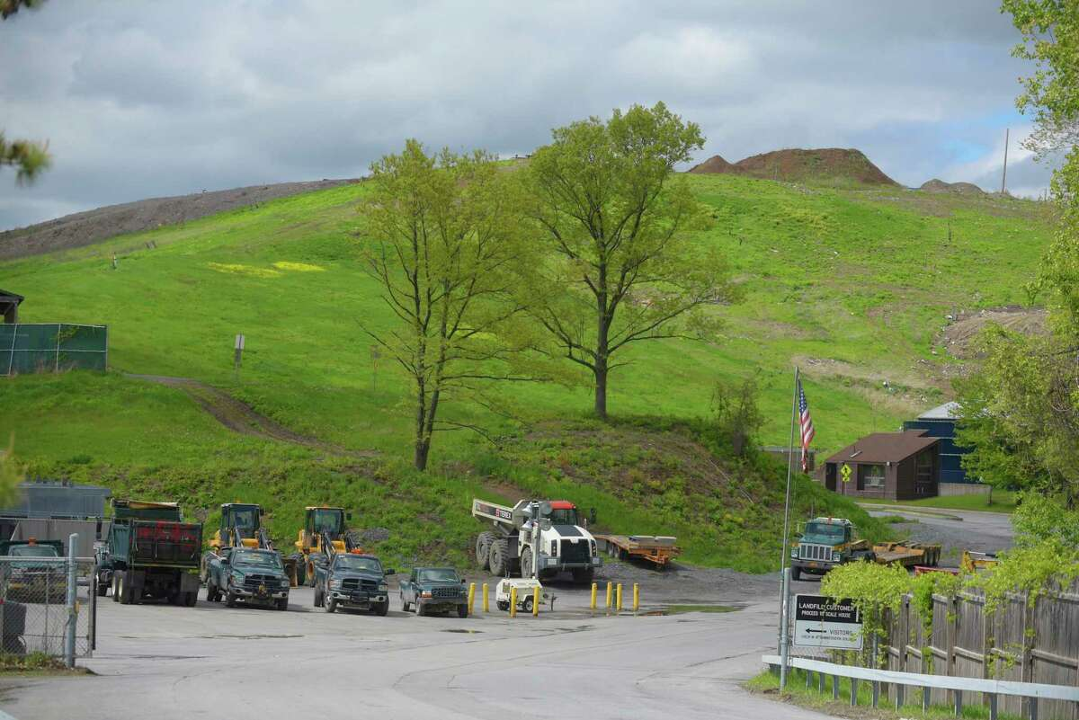 A view of the Rapp Road Landfill on Sunday, May 14, 2017, in Albany, N.Y. (Paul Buckowski / Times Union)