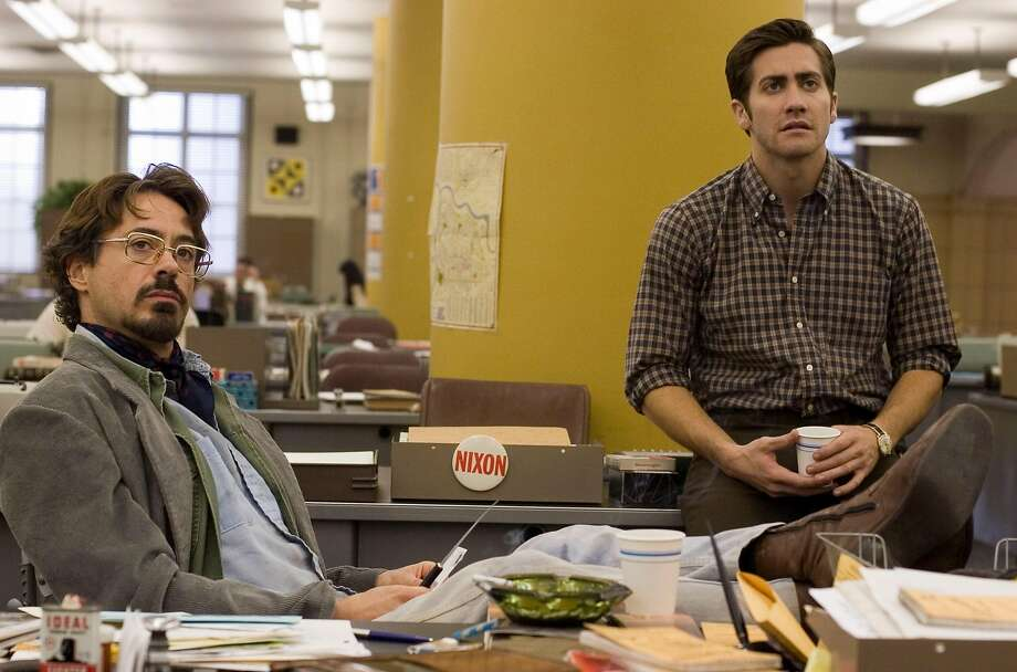 "Robert Downey Jr., left, as ""Paul Avery,"" and Jake Gyllenhaal as ""Robert Graysmith,"" star in Paramount Pictures and Warner Bros. Pictures' thriller ""Zodiac."" (HANDOUT/MCT) Photo: HANDOUT, MCT"