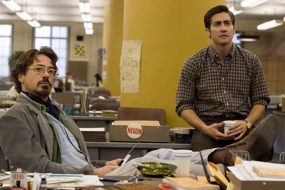 "Robert Downey Jr., left, as ""Paul Avery,"" and Jake Gyllenhaal as ""Robert Graysmith,"" star in Paramount Pictures and Warner Bros. Pictures' thriller ""Zodiac."" (HANDOUT/MCT)"