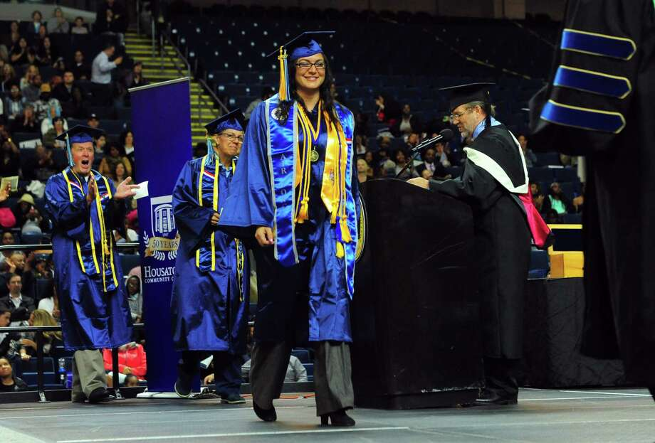 Housatonic Community College's Commencement 2017 at the Webster Bank Arena in Bridgeport, Conn., on Thursday May 25, 2017. With 612 graduates, this is the college's 3rd largest graduating class in its history. Photo: Christian Abraham, Hearst Connecticut Media / Connecticut Post