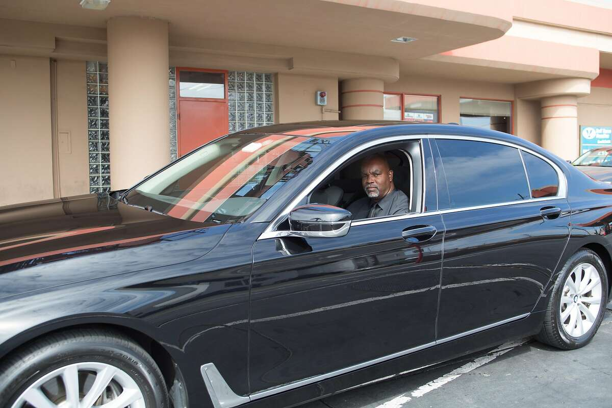On May 25th, 2017, Ulandsey Peterson drives off on his BMW 740i after its car wash at LA Car Wash in Los Angeles, CA.As a luxury driver, Peterson says he makes sure his car looks its best for his clients and always chooses the most expensive car wash which includes a hand applied liquid wax.
