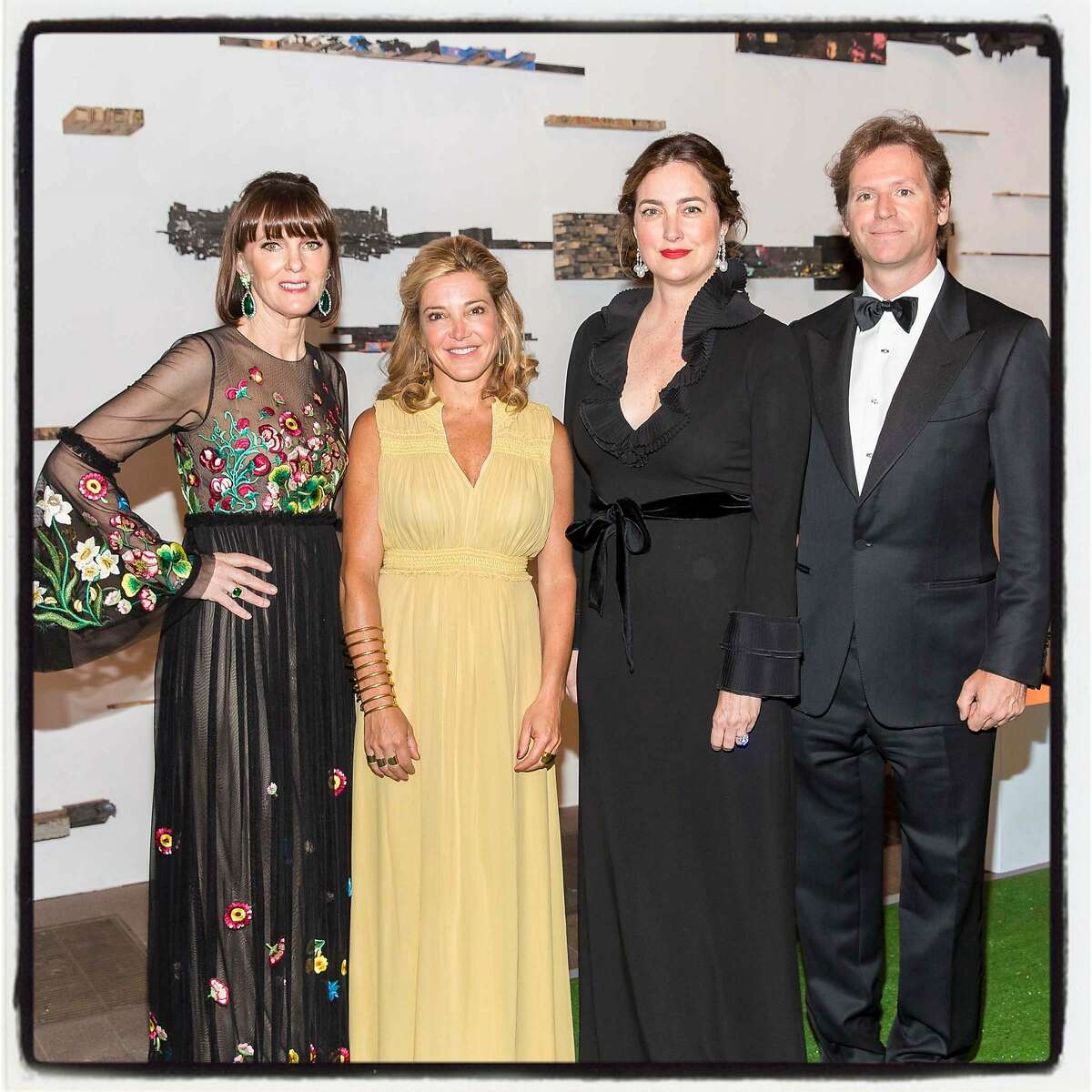 Fine Arts Museums' Spring Gala co-chairs (from left) Allison Speer, Kathryn Lasater and Alexis and Trevor Traina at the de Young Museum. May 20, 2017.