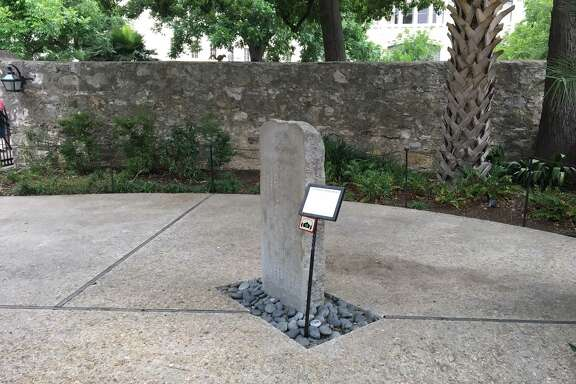 The Japanese Monument, placed in the Alamo's Convento Courtyard, dates to 1914 and compares the 1836 battle with a similar conflict in Japan in 1575.