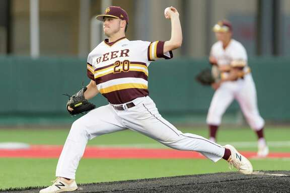 Deer Park's Peyton Sherlin allowed only one hit in a 7-0 victory over Ridge Point on Thursday in Game 1 of their Class 6A Region III semifinal.