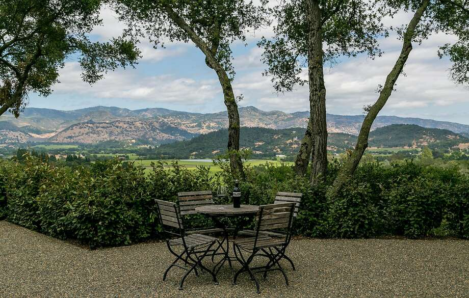 The view from Promontory Estate, nestled in the hillsides of Oakville Grade. Photo: John Storey, Special To The Chronicle