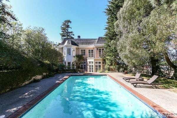 This large pool (and hot tub) is at a home in St. Francis Wood.