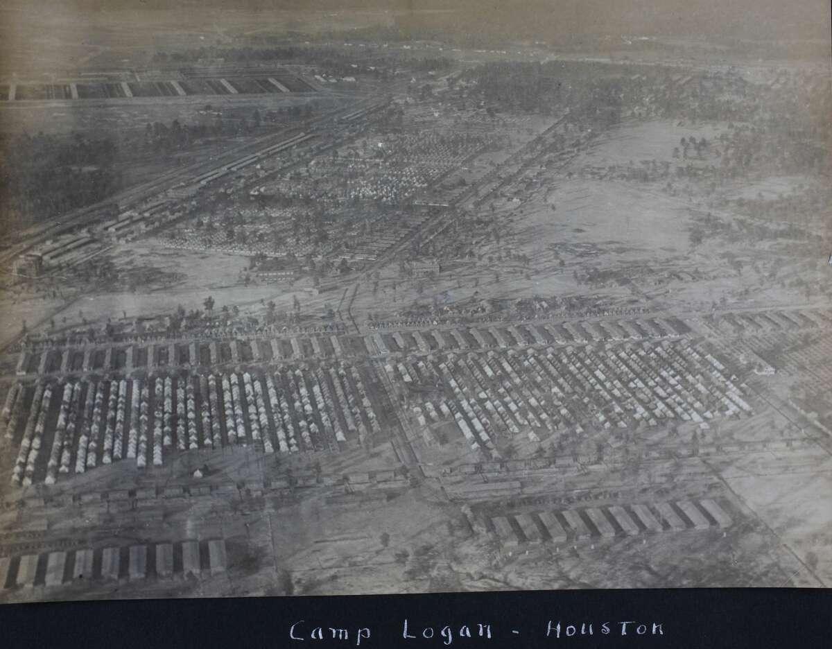 Aerial view of Camp Logan.