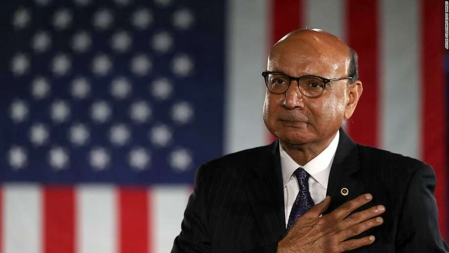 Khizr Khan speaking at the Democratic National Convention in 2016 Photo: /