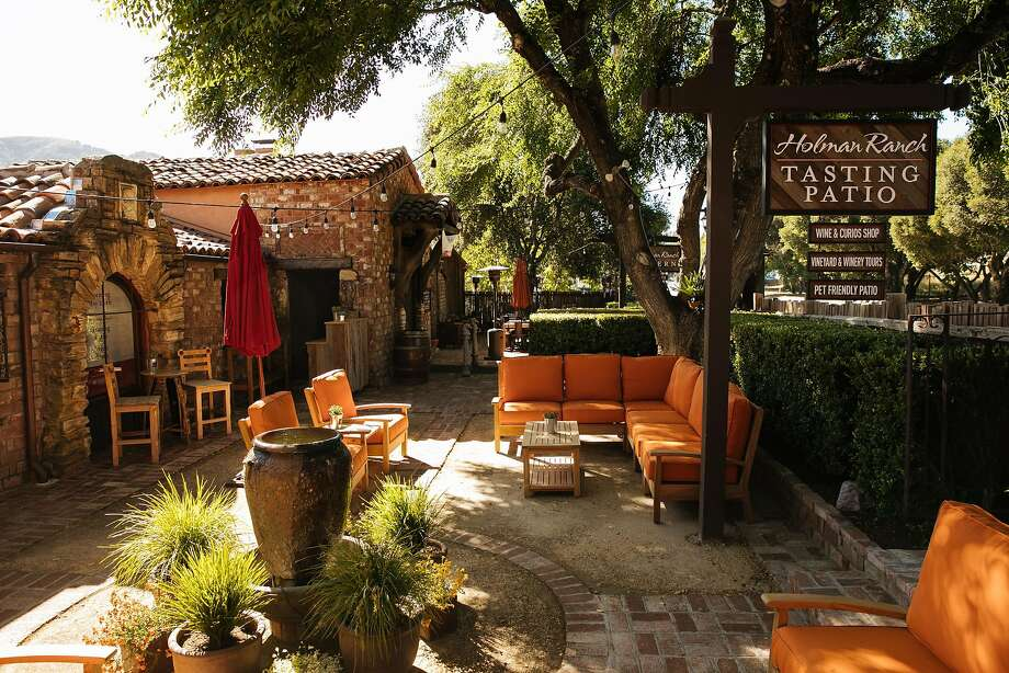 Holman Ranch Tavern's tasting patio. Photo: Mason Trinca, Special To The Chronicle