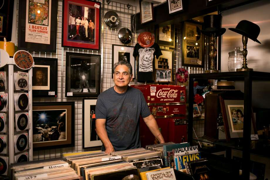 Larry Chavez, owner of Rock and Roll Experience, at his store on Monterey's main drag. Photo: Mason Trinca, Special To The Chronicle