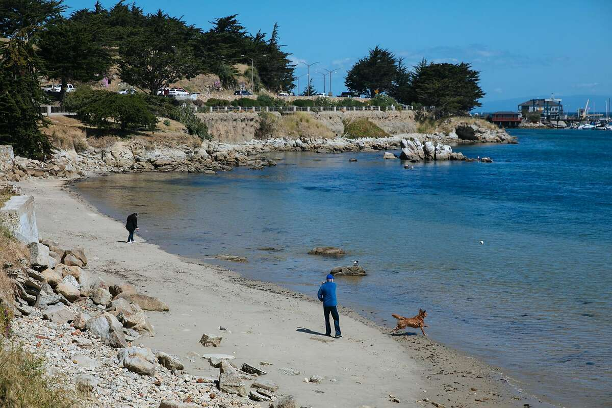 People walk along the coast adjacent to the Monterey Bay Costal Trail the in Monterey, Calif. Friday, May 19, 2017.A study out of the Monterey Bay Aquarium and Monterey Bay Aquarium Research Institute reveals that there is more plastic pollution deep in the Monterey Bay than the Great Pacific Garbarge Patch.