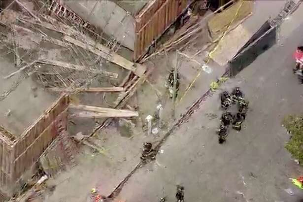 A building collapsed on the 300 block of Hawthorne Street near Broadway.