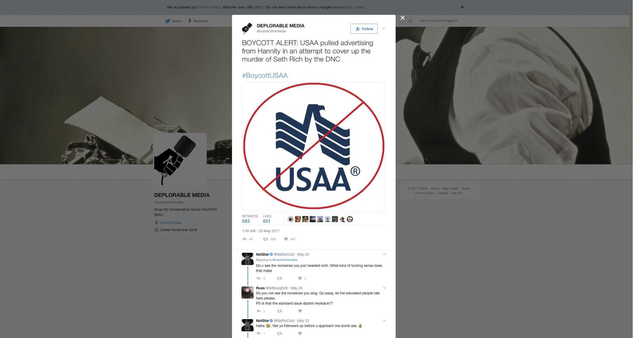 USAA touches off Twitter firestorm after yanking Hannity ...