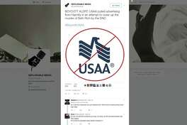A tweet targets San Antonio-based USAA for canceling advertising on the conservative Sean Hannity Fox News show. The company is getting blowback from conservatives on social media over its decision to yank advertising from the show this week. Hundreds of people have taken to social media to express their displeasure with the decision and some are calling for a boycott.