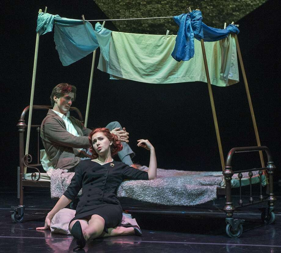 Hadleigh Adams and Rachel Schutz sing the lead roles. Photo: Steve DiBartolomeo