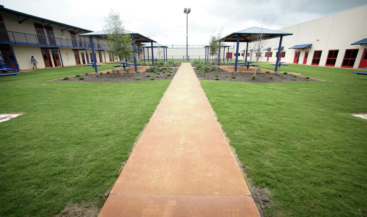 The new Karnes County Civil Detention Center, in Karnes City, Tx, features daily recreation areas including a half soccer field. Tuesday, March 13, 2012. Bob Owen