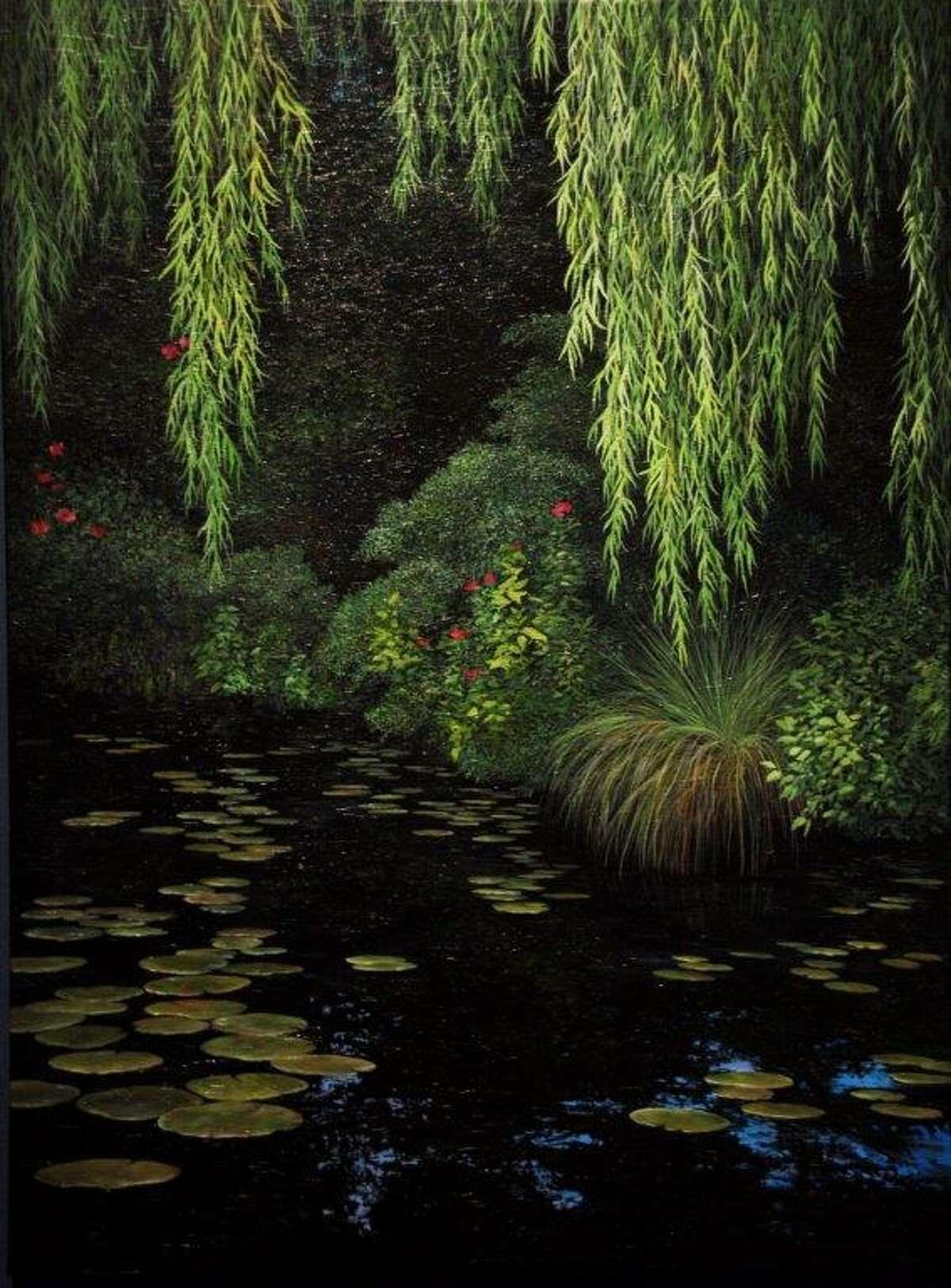 """Dark Garden,"" acrylic by Candace Keller, Plainview"