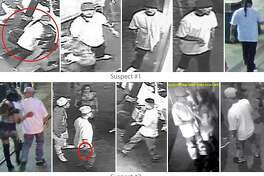 The San Jose Police Department asked for the public's help in identifying two suspects in a Sunday morning stabbing of a San Jose State University football player.