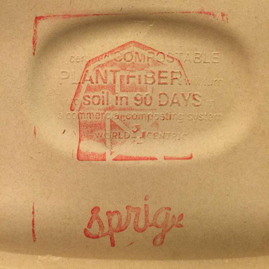 Sprig's meals came in stamped, compostable packaging. Photo: Amanda Gold