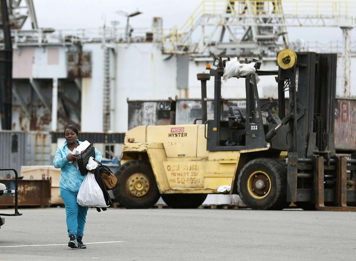 Carlisa Coleman worked for 18 years before she was laid off at the former BAE Systems shipyard at Pier 70 in San Francisco.