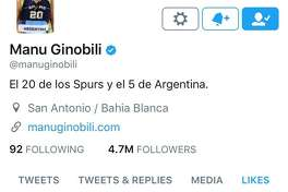 Close to 400,000 people liked Rowling's response and the Spurs vet was one of the Twitter users who tapped the heart button. In his eight years on Twitter, Ginobili has curated a meager 121 likes — so Rowling's tweet must have really impressed him.
