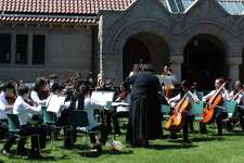 The Greater Bridgeport Youth Orchestras' Great Lawn Concert at the Pequot Library in Fairfield takes place on Saturday afternoon, June 3.