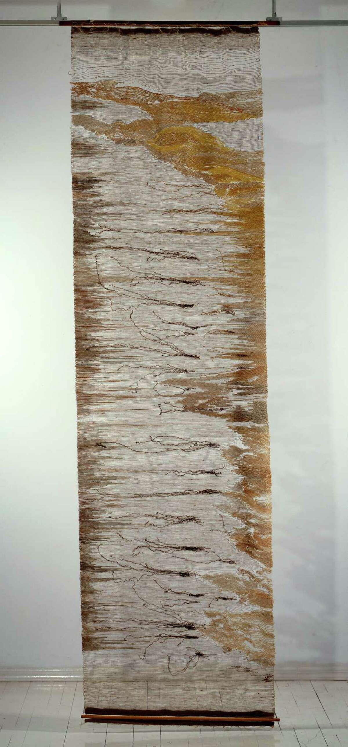 [EX2017.CKMT.05.1] Lenore Tawney, Seaweed, 1961. Linen, silk, 120 é?- 32 in. (304.8 é?- 81.3 cm). The Lenore Tawney Foundation, New York. Lenore G. Tawney Foundation