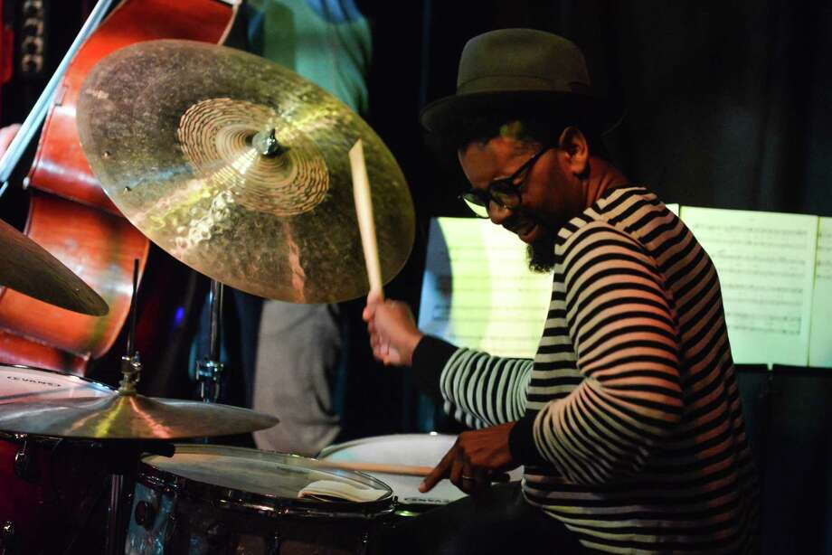 "Jamire Williams took a bold step with ""/////Effectual,"" his album that reflects his thoughts on how percussion fits in contemporary music. Photo: (Photo By Andy Sheppard/Redferns Via Getty Images), Contributor / 2013 Andy Sheppard"