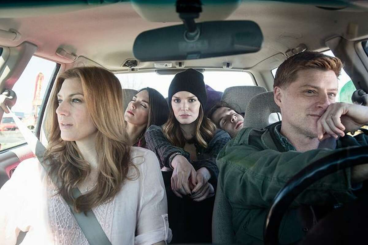"""""""Deathless,"""" a new musical running June 2 to July 2 in Chester, features Jessica Phillips, left, and Sean Allan Krill in the front seat, and Kelli Barrett, left, Jennifer Damiano and Johnny Shea behind."""