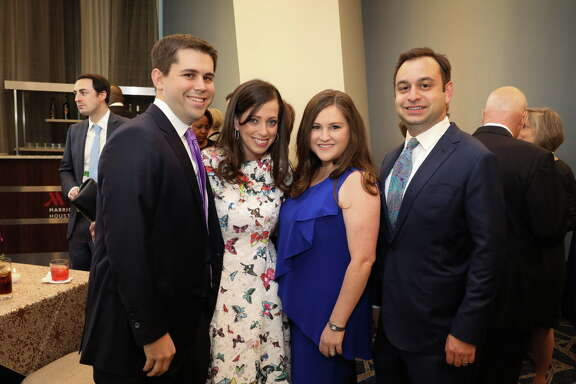 From left: Donna and Tony Vallone; Ira Mitzner, Dr. Kelly Zuniga, Gary Markowitz and Gred Zeidman; Steven and Stephanie Mitzner with Lauren Mitzner Paletz and Steven Paletz