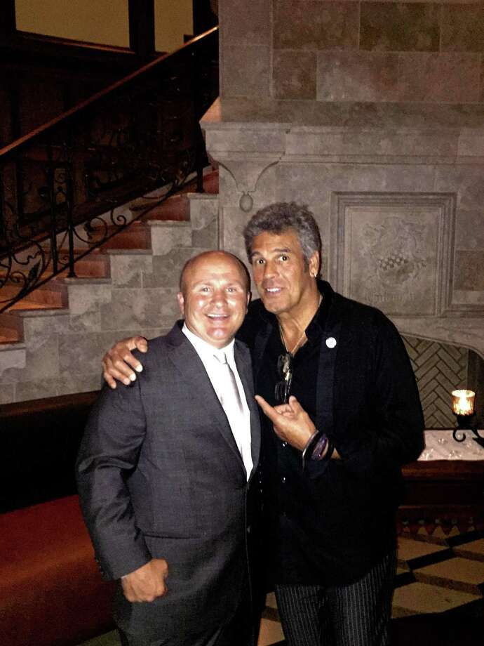 Tony Capasso, maitre'd and managing partner of Gabriele's with saxophonist Mark Rivera at Gabriele's on Tuesday evening. Photo: Contributed /