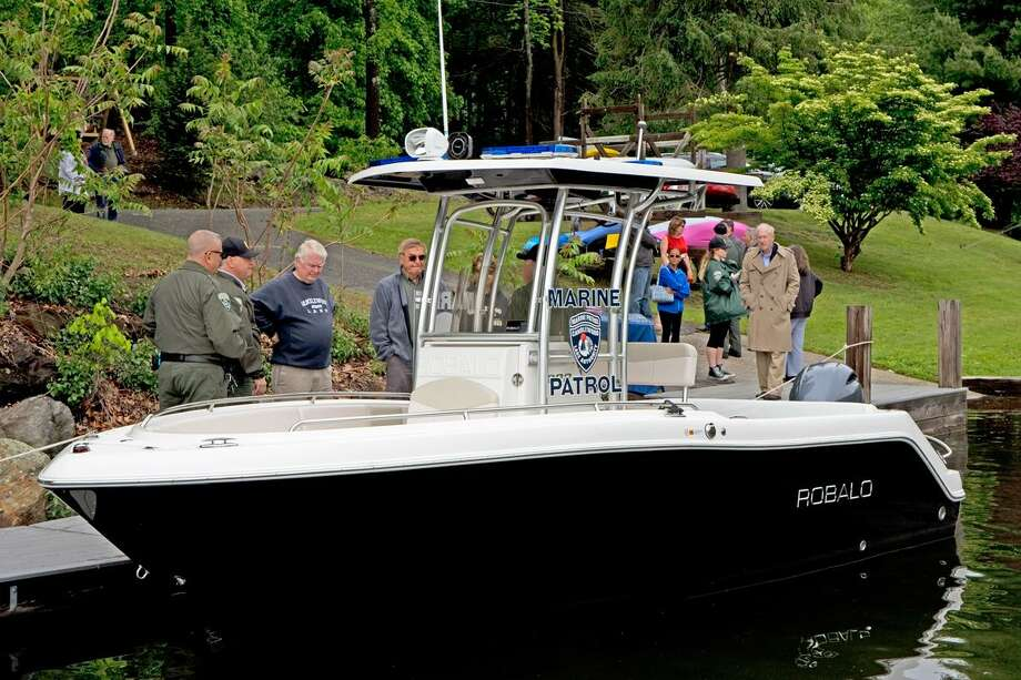 Candlewood Lake Authority launched its new patrol boat on Friday, May 26, 2017. Photo: Contributed Photo / Mark Howarth