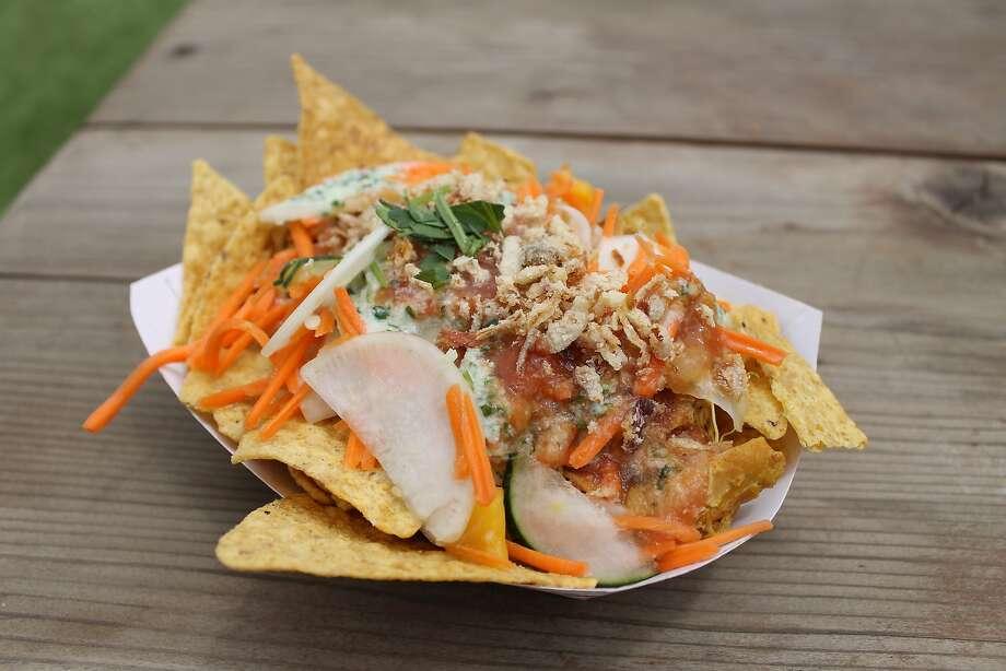 Azalina: chicken curry nachos ($10) Photo: Esther Mobley
