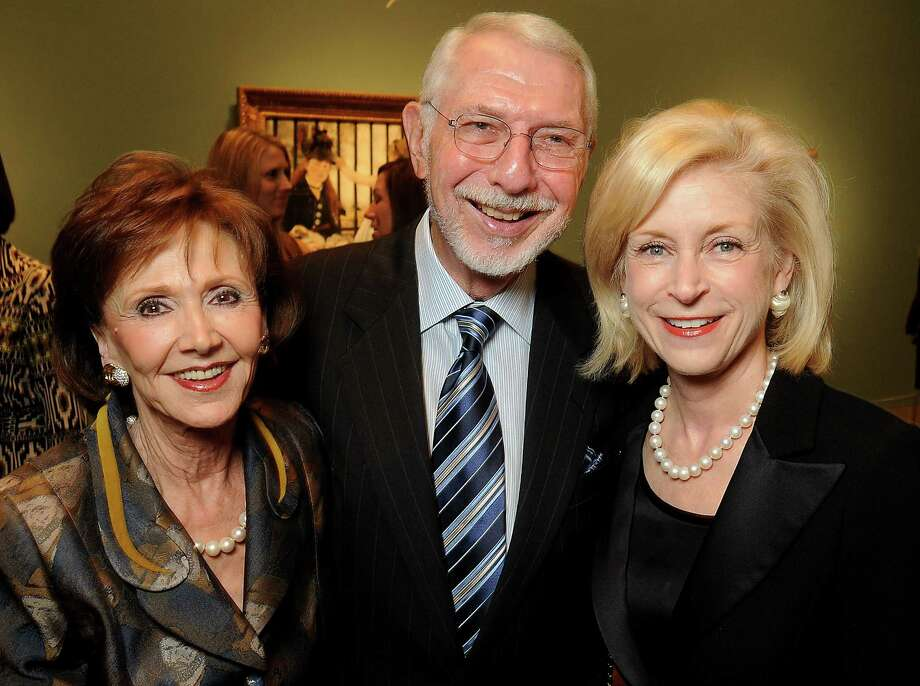 Cyvia and Melvyn Wolff, left, paused for a photo with Ann Bookout at an arts patron dinner in 2011. Melvyn Wolff transformed Star Furniture into a large retailer. Photo: Dave Rossman, Freelance / © 2010 Dave Rossman