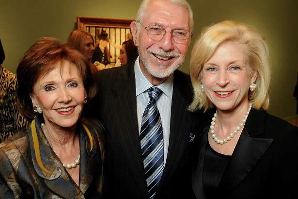 From left: Cyvia and Melvyn Wolff with Ann Bookout at the patrons dinner celebrating the exhibition Impressionist and Post-Impressionist Masterpieces from the National Gallery of Art at the Museum of Fine Arts, Houston Wednesday Feb. 16,2011.(Dave Rossman/For the Chronicle)