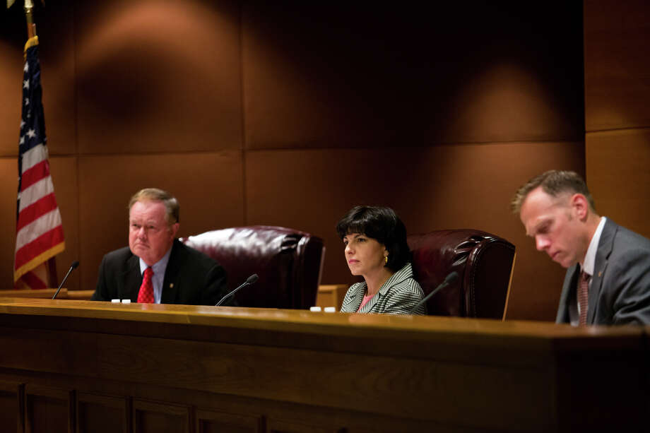 A Railroad Commission hearing Tuesday became heated when commissioners learned that Chairman Christi Craddick had sought the resignation of the agency's executive director in a private meeting the day before. Photo: Callie Richmond / Houston Chronicle