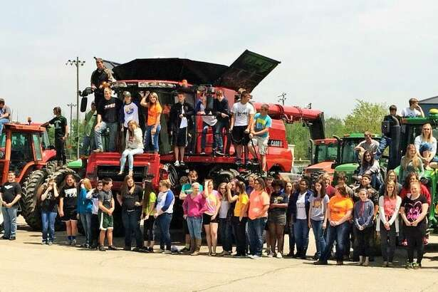 "North Huron High School held its annual ""Drive Your Tractor to School"" event this week."