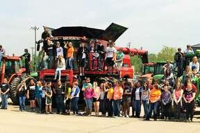 """North Huron High School held its annual """"Drive Your Tractor to School"""" event this week."""