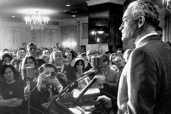 Barry Goldwater addresses supporters in 1964 in Washington, D.C.  (File Photo)