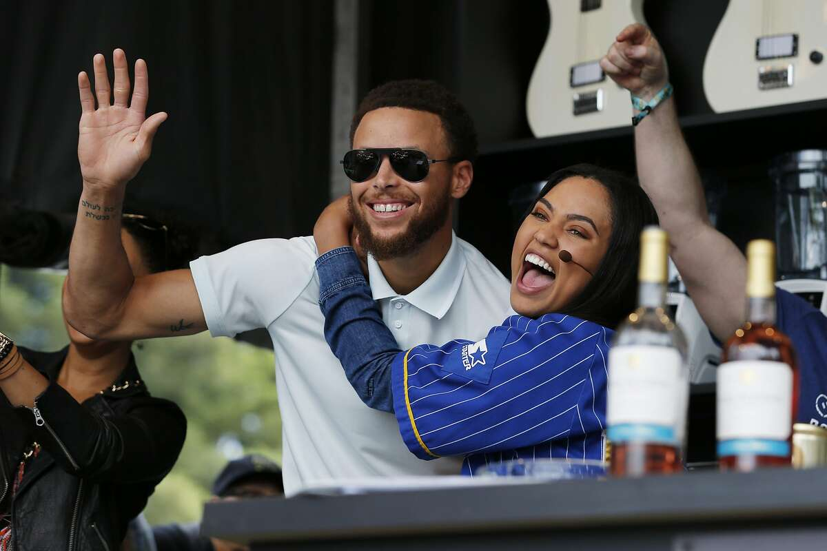 Stephen Curry and Ayesha Curry during BottleRock at the Napa Valley Expo on May 26, 2017.